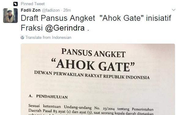 Dibawa Paripurna DPR, Nasib Ahok-Gate Ditentukan 'One Man One Vote'