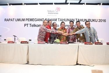 RUPST Telkom Tahun Buku 2016 Payout Ratio 70%, Telkom Bagikan Dividen Rp 13,55 Triliun