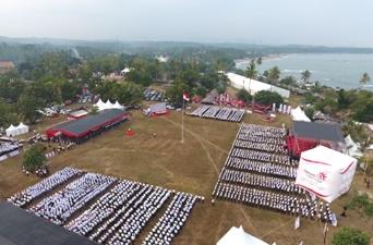 Upacara HUT RI- 72, Telkom & Krakatau Steel Tegaskan Komitmen BUMN Hadir Untuk Negeri di Provinsi Banten