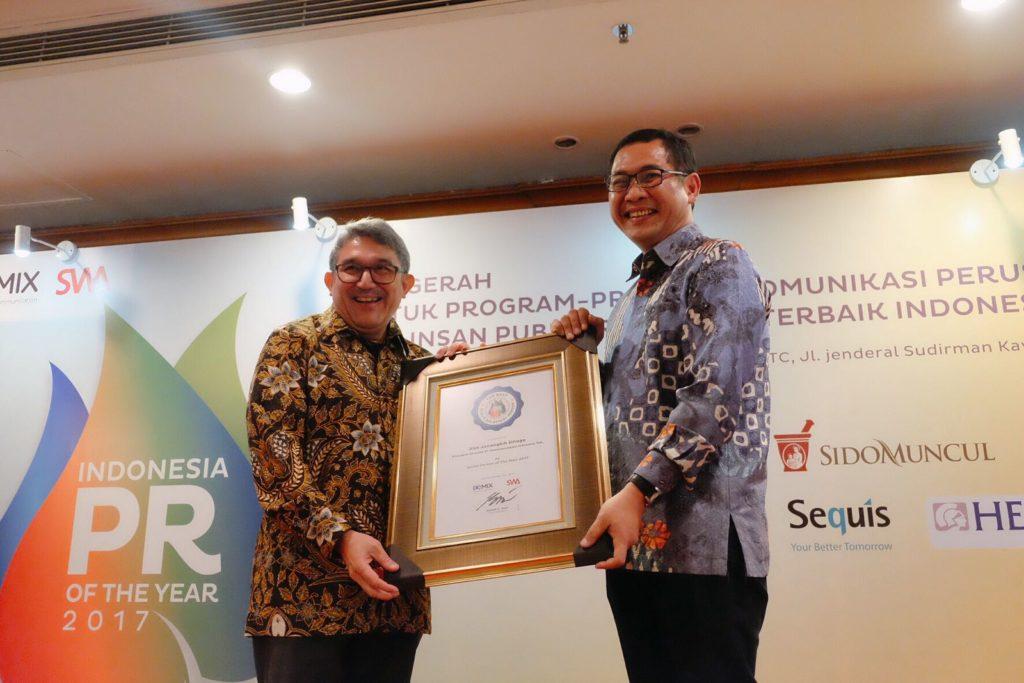 Dirut PT. Telkom Dinobatkan Sebagai Spoke Person of the Year 2017