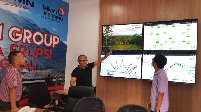 Erupsi Gunung Agung, TelkomGroup Tingkatkan Pengamanan Infrastruktur Telekomunikasi di Pulau Bali