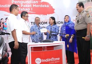 PT. Telkom Umumkan Pemenang Tahap I Undian IndiHome Paket Merdeka