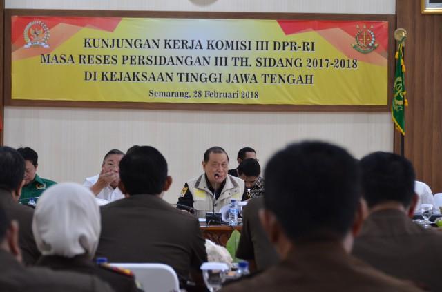 Komisi III DPR RI Bahas Optimalisasi Tugas Kejaksaan Tinggi Jawa Tengah