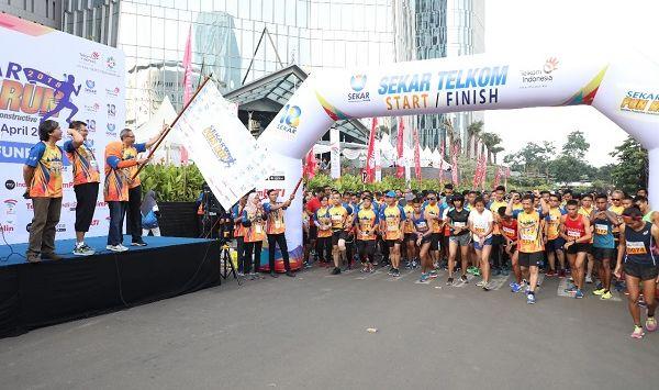 SEKAR (Serikat Karyawan) Telkom Fun Run 2018 Dimulai Start di Jakarta