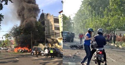 25 Jam Teror BOM di Jawa Timur : 21 Warga Meninggal, 13 Pelaku Tewas