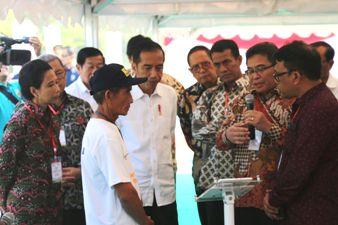 Presiden Jokowi Resmikan Kewirausahaan Pertanian & Digitalisasi Pertanian di Kabupaten Indramayu