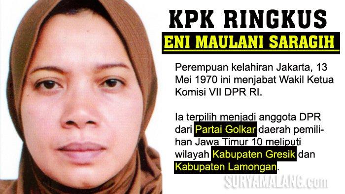 Kronologi OTT Anggota DPR Eni Saragih & Rumah Dirut PLN Digeledah KPK