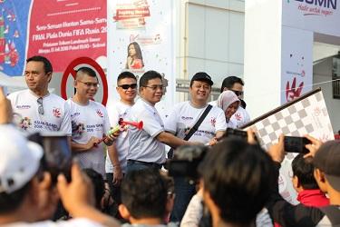 Dirut PT. Telkom Alex J. Sinaga Buka Kegiatan Jalan Gembira Funtastic Day