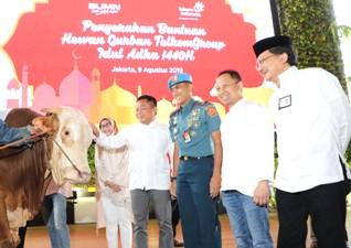 Sambut Idul Adha 1440 Hijriah, Keluarga Besar PT. TelkomGroup Distribusikan 1.186 Hewan Kurban